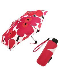 Marimekko/マリメッコ 傘 MARIMEKKO 038654 001 PIENI UNIKKO MINI MANUAL 折り畳み傘 WHITE/RED/502045267