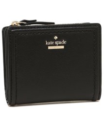 kate spade new york/KATE SPADE WLRU5294 001 PATTERSON DRIVE SMALL SHAWN レディース 二つ折り財布 無地 ブラック 黒/502045360
