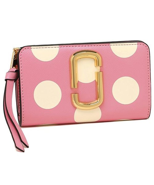Marc Jacobs(マークジェイコブス)/MARC JACOBS M0014836 746 THE DOT SNAPSHOT  COMPACT WALLET レディース 二つ折り財布 ドット 水玉 /mjm0014836746