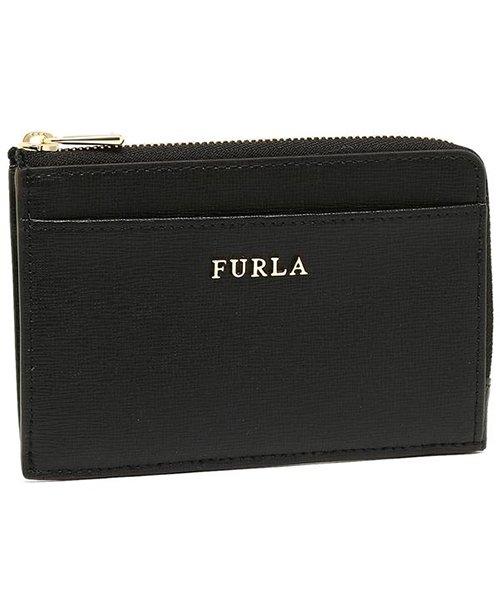 FURLA(フルラ)/ FURLA 907847 PR75 B30 O60 BABYLON M CREDIT CARD CASE バビロン 名刺入れ・カードケース 無地 ONYX 黒/fu907847