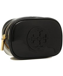 TORY BURCH/ TORY BURCH 40926 001 STACKED PATENT SMALL COSMETIC CASE レディース 無地 BLACK 黒/502045502