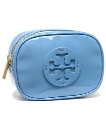 TORY BURCH/TORY BURCH 40926 457 STACKED PATENT SMALL COSMETIC CASE レディース ポーチ 無地 ブルー 青/502045503