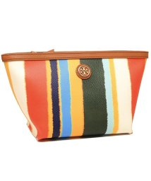 TORY BURCH/TORY BURCH 55397 986 KERRINGTON TRIANGLE COSMETIC CASE レディース ポーチ ストライプ/502045532