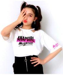 ANAP GiRL/両袖ロゴデザイントップス/502046303