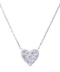 JEWELRY SELECTION/PT 天然ダイヤモンド 計0.2ct ハート プラチナネックレス/502281274