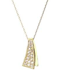 JEWELRY SELECTION/K18ゴールド 天然ダイヤモンド 計0.2ct デザイン ネックレス 【K18YG イエローゴールド】/502281285
