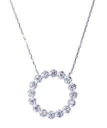 JEWELRY SELECTION/PT 天然ダイヤモンド 計0.2ct サークル プラチナネックレス/502281286