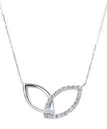 JEWELRY SELECTION/K18ゴールド 天然ダイヤモンド 計0.2ct デザイン ネックレス 【K18WG ホワイトゴールド】/502281295