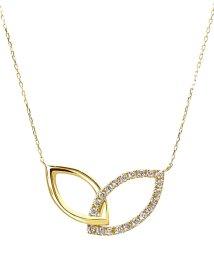 JEWELRY SELECTION/K18ゴールド 天然ダイヤモンド 計0.2ct デザイン ネックレス 【K18YG イエローゴールド】/502281297