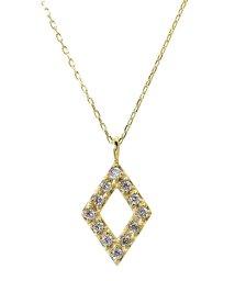 JEWELRY SELECTION/K18ゴールド 天然ダイヤモンド 計0.1ct デザイン ネックレス 【K18YG イエローゴールド】/502281317