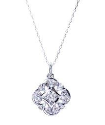 JEWELRY SELECTION/PT 天然ダイヤモンド 計0.2ct デザイン プラチナネックレス/502281322