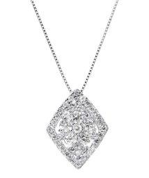 JEWELRY SELECTION/PT 天然ダイヤモンド 計0.5ct 41石デザイン プラチナネックレス 【鑑別書付】/502281342