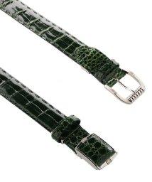 sankyoshokai/クロコダイル ベルト シャイニング 加工 35mm 日本製 ハンドステッチ 竹符 / marelli マレリー / メンズ/502282816