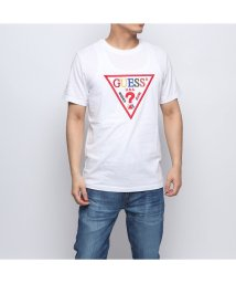 GUESS/ゲス GUESS COLORFUL TRIANGLE LOGO TEE (WHITE)/502283860