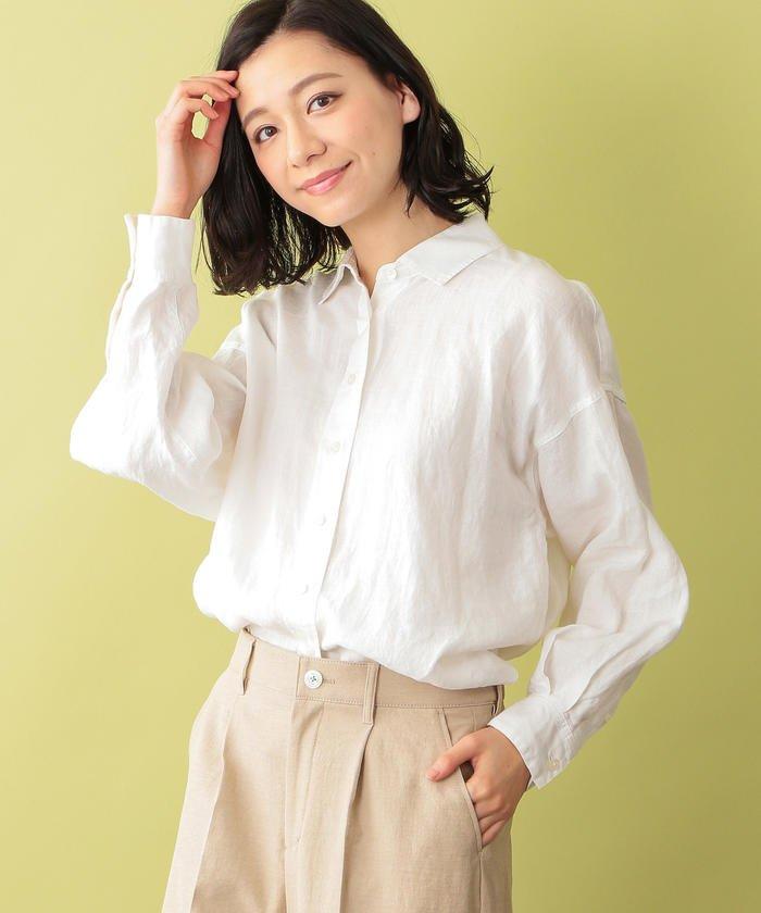 【ウォッシャブル】リネンシャツ