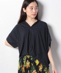 INTERPLANET/シルキーサテン半袖タックシャツ/502266740
