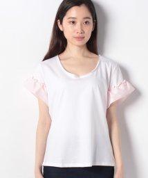 SISLEY/フリルスリーブ切り替え半袖Tシャツ・カットソー/502267610