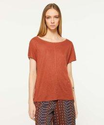SISLEY/リネン混ボートネックルーズフレンチ半袖Tシャツ・カットソー/502267612
