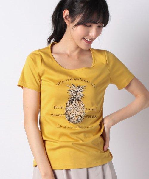 MISS J(ミス ジェイ)/【洗える】パイナップル ロゴTシャツ/630845