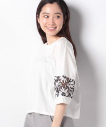 VICE VERSA/【洗える】袖レースTシャツ/502276065