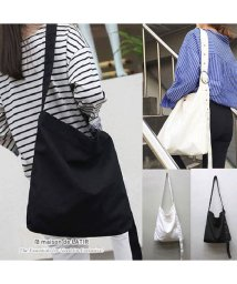 maison de LATIR/ショルダーバッグとしても、トートバッグとしても使えるベーシックデザインのキャンバスバッグ。/502280883