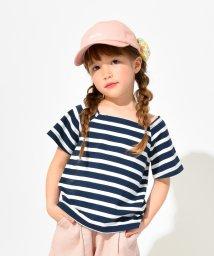 branshes/スクエアネック半袖ボーダーTシャツ(90~150cm)/502281165