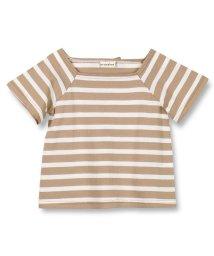 branshes/スクエアネック半袖ボーダーTシャツ/502281165