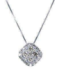 JEWELRY SELECTION/PT 天然ダイヤモンド 計0.5ct 25石 デザイン プラチナネックレス 【鑑別書付】/502281346