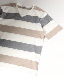 JOURNAL STANDARD/マルチボーダーVネック Tシャツ/502285241
