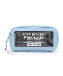 PINK-latte/ラメ入りクリアデザインポーチ/502285363