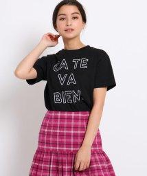 AG by aquagirl/CATE VA BIEN ロゴTシャツ/502286106