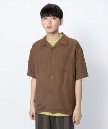 SENSE OF PLACE/リネンレーヨンオープンカラーシャツ(5分袖)/502286234