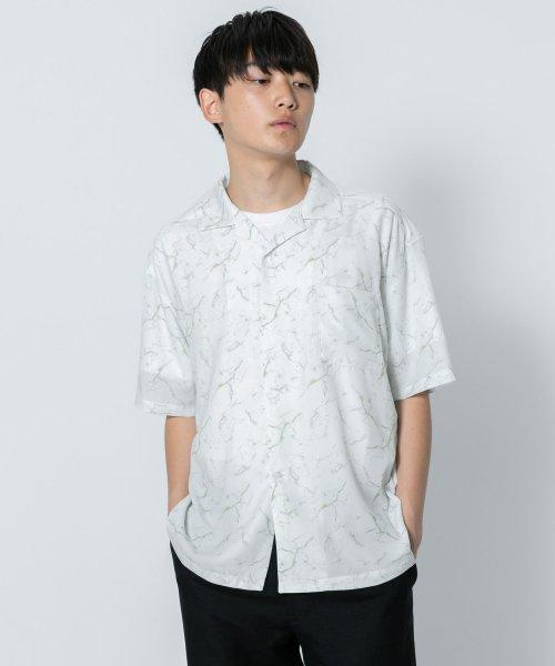 マーブルシャツ(5分袖)