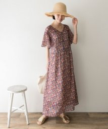 URBAN RESEARCH/LIBERTYシフォンバックレースアップワンピース/502286700
