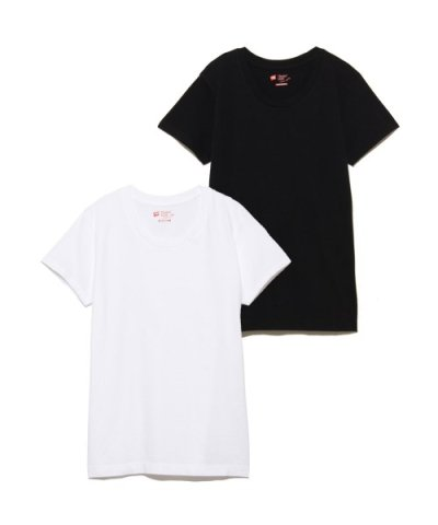 【Hanes】2P JAPAN FIT FOR HER クルーネックTシャツ