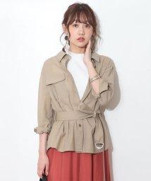 JUSGLITTY/ベルト付きシャツジャケット/502034674