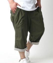 MARUKAWA/大きいサイズ メンズ 7分丈 麻混 クロップド ショートパンツ 裾 ロールアップ ハーフパンツ/502035801