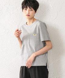 EVEX by KRIZIA/【ウォッシャブル】ファインベールカットソー(ワッペン)/502045810