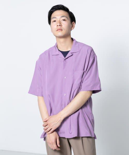 モダールオープンカラーシャツ(5分袖)