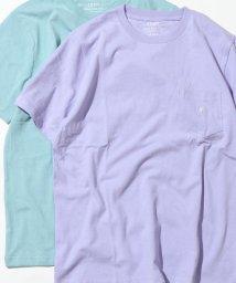 coen/USAコットンペールカラークルーネックTシャツ/502256058