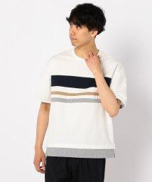 GLOSTER/ポンチ切替Tシャツ/502269644