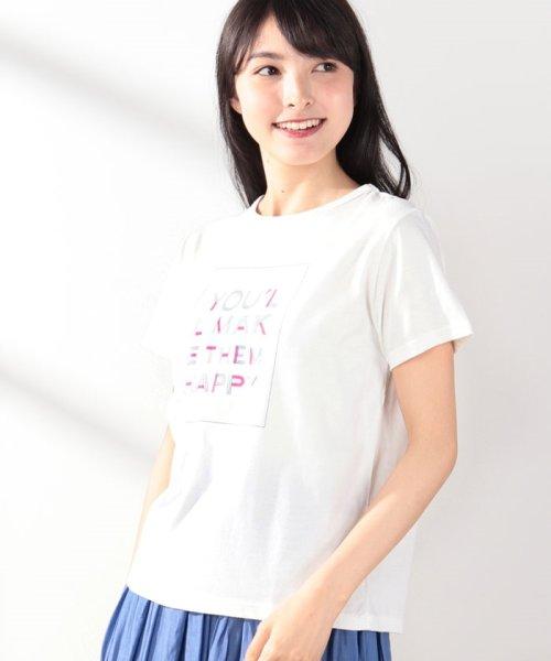 Afternoon Tea LIVING(アフタヌーンティー・リビング)/タイポ柄プリントTシャツ/GB5819204344