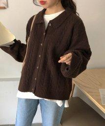 MICHYEORA/MICHYEORA(ミチョラ)襟付きざっくり編みニット-/502282912