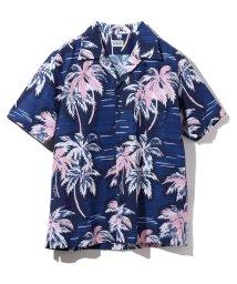 Schott/【men's FUDGE 8月号掲載】【CLUTCH MAGAZINE 6月号掲載】HAWAIIAN SHIRT PALM TREE/ハワイアンシャツ パームツ/502287518