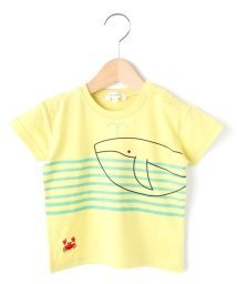3can4on(Kids)/吸水速乾クジラボーダーTシャツ/502288819