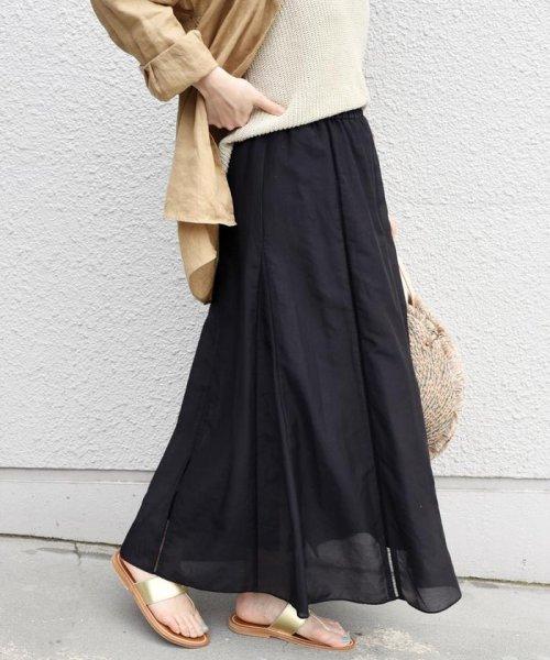 SHIPS WOMEN(シップス ウィメン)/【手洗い可能】コットンシルクギャザースカート ◇/313221850