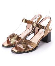 UNTITLED shoes/アンタイトル シューズ UNTITLED shoes チャンキーヒールサンダル (ブロンズ)/502290920