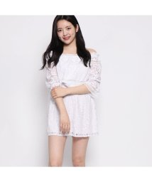 GUESS/ゲス GUESS SAVINA LACE ROMPER (PURE WHITE)/502291184