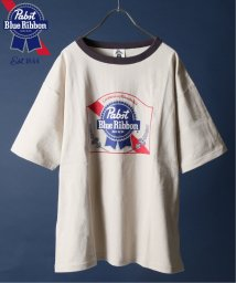 JOURNAL STANDARD relume Men's/【Begin掲載】PABST BLUE RIBBON BEER / 別注パブスト リンガーTシャツ/502291737