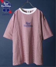 JOURNAL STANDARD relume Men's/【Begin掲載】PABST BLUE RIBBON BEER / 別注パブスト ストライプTシャツ/502291738